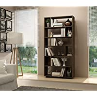 BRV Moveis Book Shelf With Twelve Shelves, Brown - H 187 cm x W 90 cm x D 29.7 cm