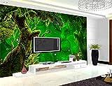 3D-Natur Wallpapers für Walls Murals -Modern Home Decoration Wandmalereien-Wohnzimmer Green Trees WallPapers Schlafzimmer-400cm (B) x250cm (H) (13'1'x8'2') ft