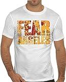 Stylotex Slimfit Fashion T-Shirt Fear Los Angeles, Farbe:Weiss;Größe:XL