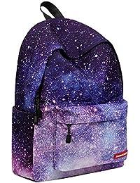 Preisvergleich für Extra großer Wanderrucksack Packbarer Wasserdichter Campingrucksack (Pattern : Sternenklarer Himmel)