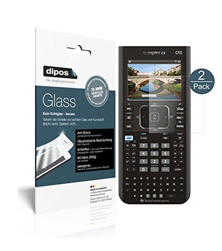 Texas Instruments TI Nspire CX Taschenrechner Schutzfolie matt - 2x dipos Glass Panzerfolie 9H Folie Antireflex Kunststoffglas