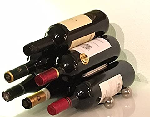 gravité en acier de vin, Six bouteilles de stockage, portable, Stacker, Unique support, empilable pour bouteilles de vin de tailles différentes–Article Cadeau idéal pour les amateurs de vin–par Wineinventions