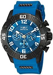 Invicta Mens Pro Diver Quartz Stainless Steel and Silicone Casual Watch, Color:Blue (Model: 22701)