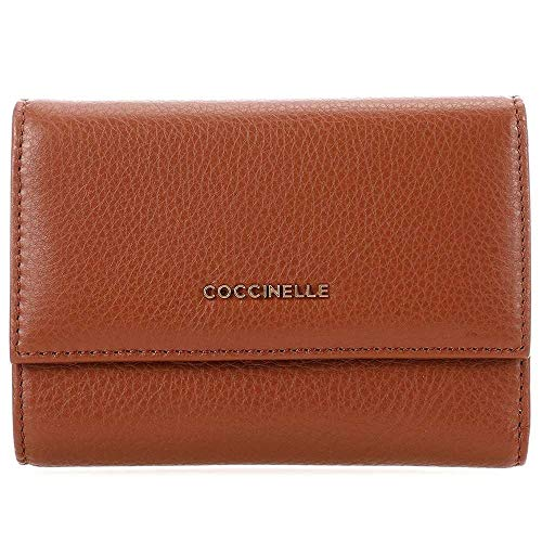 Coccinelle Metallic Soft Flap Wallet Brule