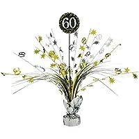 60 Cumpleaños Cascada de Mesa | Centro de Mesa Grande | Ornamentación para Fiestas | Decoración de Cumple