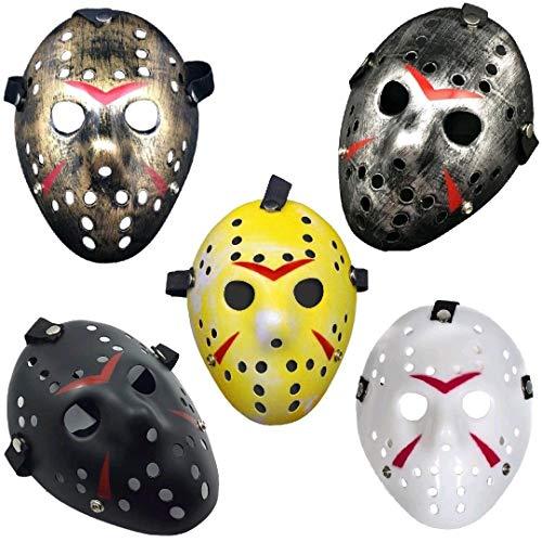 ZuoLan Jason Maske Party Club Costume Cosplay Halloween Masks Masquerade (Gold)