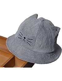 Roffatide Bebé Bordado Sombreros de Pescador Niño Niña Verano Outdoor Protección  UV Gorra de Sol e5e69a8f8b6
