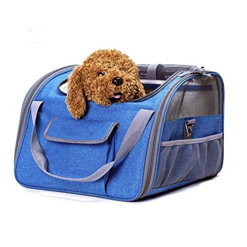 Comodo sedile anteriore impermeabile per custodia per cani e gatti per cani, Winipet Protezione per sedile amaca posteriore impermeabile con borsa e cintura di sicurezza, XL, taglia universale per aut , Blue