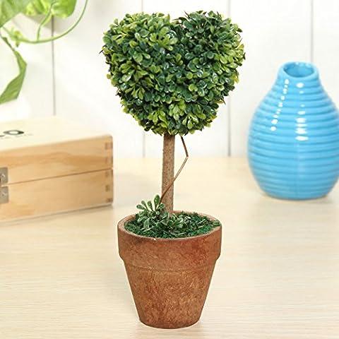 Bluelover Künstliche Topfpflanzen Pflanze Kunststoff Garten Rasen Ball Hecke Baum