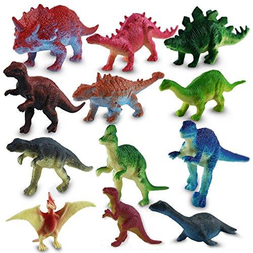 12 x HC-Handel 915697 Kunststoff Dinosaurier sortiert Plastikfiguren 7 cm