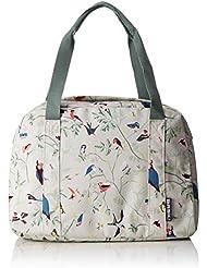 BASIL WANDERLUST-CARRY ALL BAG, bike handbag, Hook On-system, reflective stripes 18L, Ivory