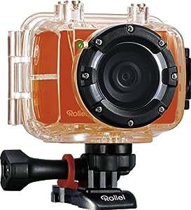 Rollei 40272 Actioncam 5S Summer Edition (Action-, Sport- und Helmkamera) orange