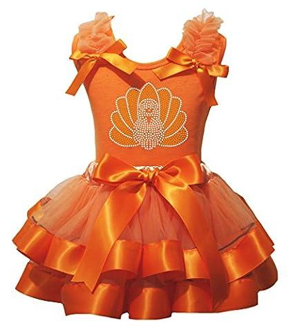 Turquie Dress Outfit - petitebelle Thanksgiving Bling Turquie pour homme Orange