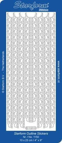Deco Stickers - Cenefa elefante oro
