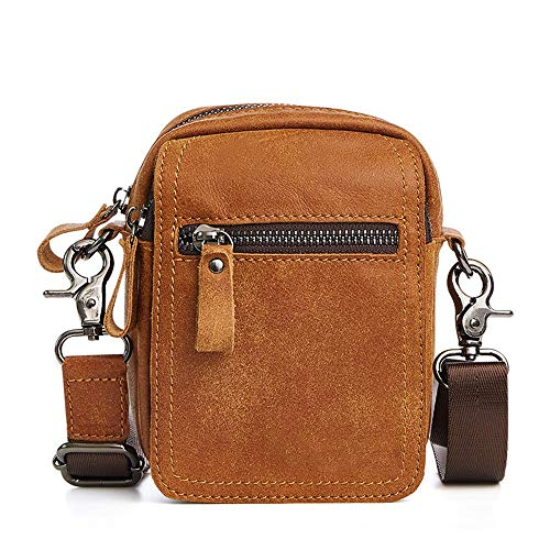 Maybesky Echtes Leder Crossbody Schulter Kleine Umhängetasche Handy Reise Gürteltasche Phone Cases Pouch Outdoor Steampunk Bag Wallet Portemonnaie Tasche (Größe : Big) - Wallet Pouch Handy Case