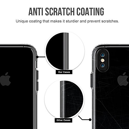 Transparente Dual Layer Style Anti Cratch Schock Absorbtion Schutz Shell Cover Case für iPhone X ( Color : Gray ) Gray