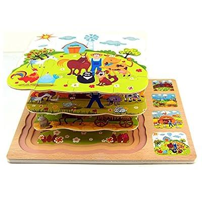 Highdas Multidimensional rompecabezas de madera de juguete Juego de Ni?os por Highdas network technology Co., Ltd