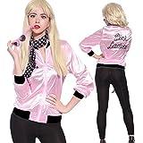 Mythgift 50's graisse T-Bird Danny T oiseau / rose dames costume de veste fantaisie libre écharpe- XX Large