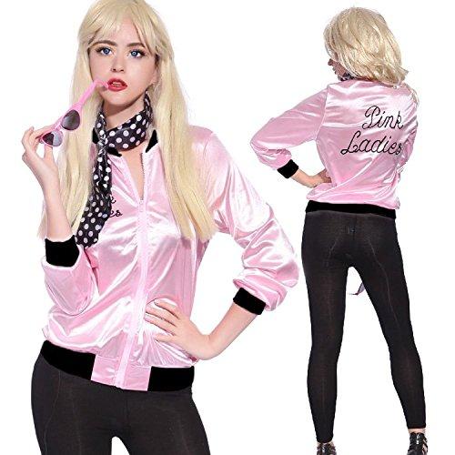 -Vogel Danny T Vogel / Pink Ladies Damen Jacke Kostüm Fancy Free Schal- Size XX Large (60er-jahre-girl-outfits)
