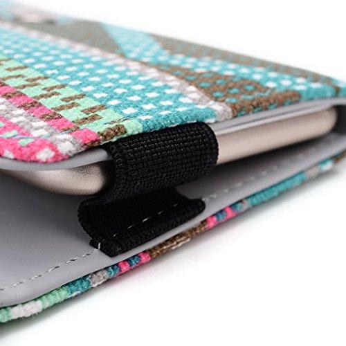 Kroo Téléphone portable Dragonne de transport étui avec porte-cartes compatible pour Kyocera Brigadier Multicolore - vert Multicolore - vert