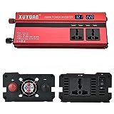 CHRRI Wechselrichter 12V Bis 220V/600W/1200W/2000W Auto Wechselrichter Mit LED-Display Elektrischer Zigaretten Wandler-Display-Konverter,2000W