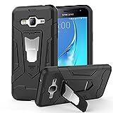 HOOMIL Coque Samsung Galaxy J3 2016, Silicone Housse Antichoc Armor Protection Case Etui pour Galaxy J3 2016 - H3226, Noir