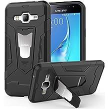 HOOMIL Cover Samsung Galaxy J3 2016, Custodia Galaxy J3 (2016) Nero Armor Silicone TPU Case per Samsung J3 2016 - H3226