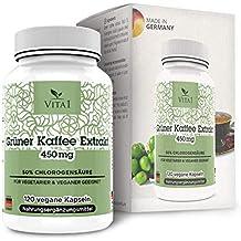 Cápsulas de extracto de Café Verde 450mg de VITA1 • 90 cápsulas (un mes de