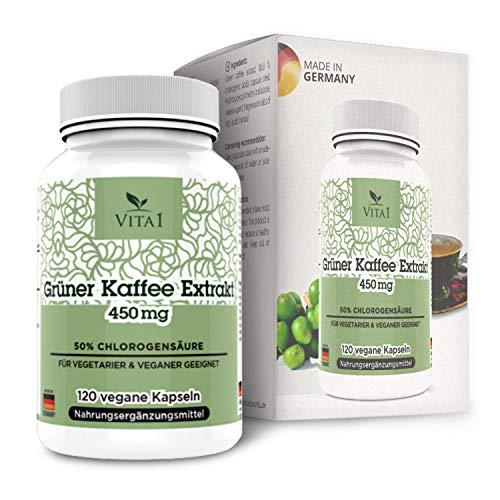 Vita 1 Grüner Kaffee Extrakt 450 mg 90 Kapseln (Monatspackung), 49 g