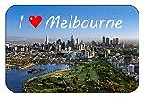 Cadora Magnetschild Kühlschrankmagnet I love Melbourne