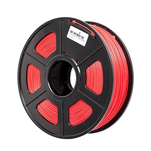 TRITINA 3D Printer Filament ABS 1.75 mm Durchmesser,Maßgenauigkeit ± 0.02 mm,1 kg Spulengewicht,Farben Option (Rot)