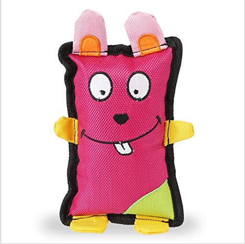 NIJY Burlap Carino Anatra/Coniglio/Ape Teddy Cucciolo Golden Retriever Cuccioli in Grande Cane Molare Morso-Resistente Giocattolo Rosa Rosso
