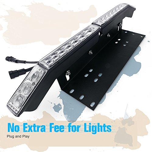 Preisvergleich Produktbild MICTUNING Universal Aluminium Nummernschild Halterung mit 60W Cree LED Arbeitlampe Zusatzscheinwerfer