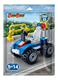 #6: Banbao  Building Blocks Foilpack Gilt Police Car, Multi Color
