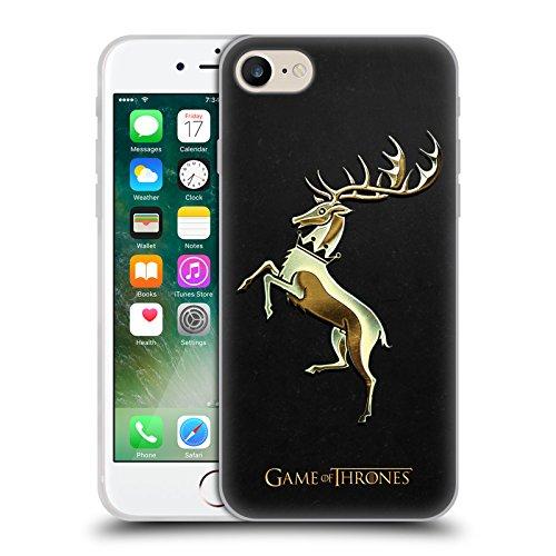 Offizielle HBO Game Of Thrones Gold Targaryen Sigils Soft Gel Hülle für Apple iPhone 6 / 6s Gold Baratheon