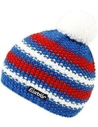 Eisbär Niñas Sombrero De Invierno Gorra Con Borla Gorro Borlas Punto Lana Productos Marca Merina Rayas Niños (EB-71010-W17-MA3) incl. EveryHead-Hutfibel