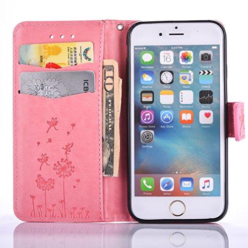 PU für Apple iPhone 6 (4.7 Zoll) Hülle,Geprägte Campanula Handyhülle / Tasche / Cover / Case für das Apple iPhone 6 (4.7 Zoll) PU Leder Flip Cover Leder Hülle Kunstleder Folio Schutzhülle Wallet Tasch 3