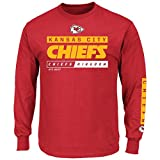 Kansas City Chiefs Majestic NFL Primary Receiver 2 Long Sleeve Men's T-Shirt