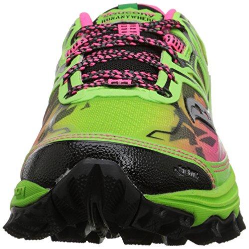 Saucony Women's Xodus 6.0 Trail Running Shoe, Green/Pink, 10.5 M US GREEN / PINK