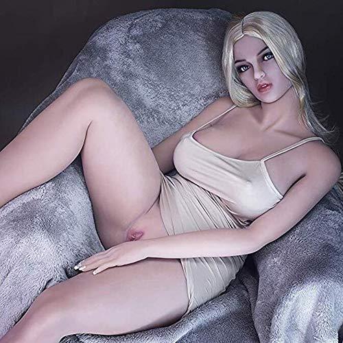 Xingjo Lebensechte Sexspielzeug Für Männer Sexpuppe,Masturbatorpuppe Der Vagina,Öffnungen Vagina Oral Anus Teen Liebespuppe Weiblich Silikon 3D TPE Sex Real Doll Puppen Big Butt 160Cm,Big Ass Frau