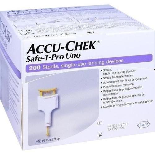 Accu Chek Safe T-Pro Uno 200Pz