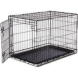 AmazonBasics Cage pliante en métal avec 1porte pour chien TailleL
