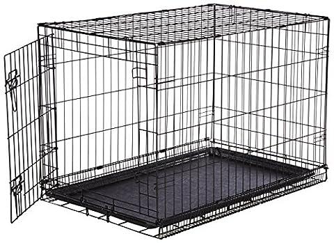 AmazonBasics Single-Door Folding Metal Dog Crate - Medium
