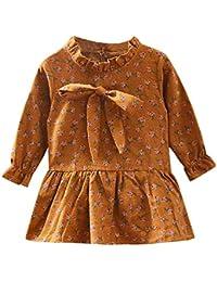 K-youth Vestidos para niñas Vestidos Bautizo Fiesta bebé niña Invierno Manga Larga Ropa Bebe