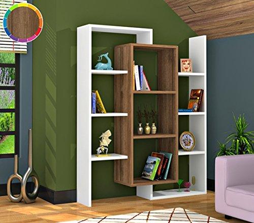 OYO Concept Bücherregal \ Standregal \ Büroregal \ Bibliothek Regal \ Holzregal \ Aufbewahrungsregal (Luce_2) (Bücherregal-regale-bibliothek)