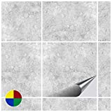 FoLIESEN Fliesenaufkleber 15x15 cm - Fliesen-Folie Bad - Klebefolie Küche - Dekor Gorreto - 500 Klebefliesen