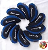 Best Adams golf bag - Taylormade golf Iron Covers 10pcs/set new style, Black/Blue Review