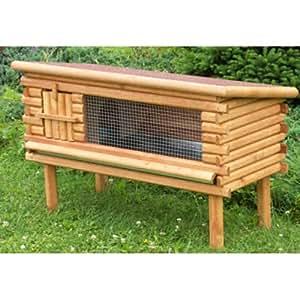 Woodland-603330AM-Clapier pour Rongeur et Lapin Logy-Fabrication Bois Sapin- L 80 x l 47 x H 66 cm
