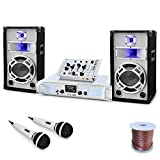 DJ PA Set Polar Fox Design PA Komplettset white/weiss (Skytec SPL700 Watt,...