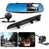 Car Dash Camera 4.3 Pulgadas 120 Grados Nuevo 1080P HD EUZeo Dual CAM Vehículo Delantero Trasero DVR Lens Video Recorder 32G Reversing Kit Dash CAM Car Seguridad Sistema de Aparcamiento Kit